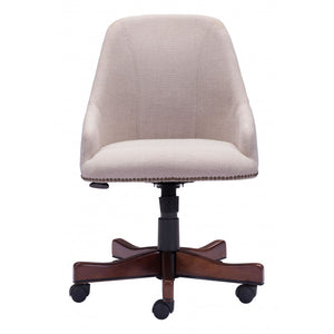 Zuo Maximus Office Chair - Beige