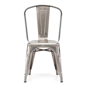 Zuo Elio Stainless Steel Side Chair (set of 2)