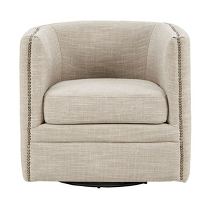 Madison Park Capstone Swivel Chair In Creme Cream