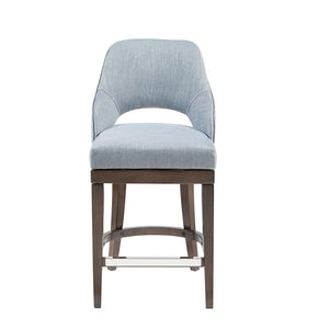 Madison Park MP104-0510 Jillian Counter Stool with Swivel Seat Blue