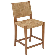 Harbor House Fillmore Rush Counter Stool in Natural Finish HH101-0225