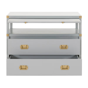 Orient Express Bradley Dove Gray 2 Drawer Nightstand