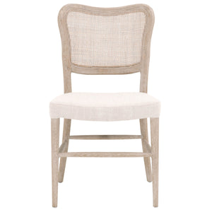 Stitch Hand Cela Bisque And Natural Gray Dining Chair Set Of 2 by Orient Express - Cream 6661.BISQ/NG Transitional Style, Fabric Material