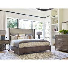 Rachael Ray Highline Complete Upholstered Wingback Panel Bed