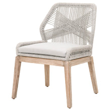 Orient Express Furniture Loom Woven Dining Side Chair, taupe - Set of 2