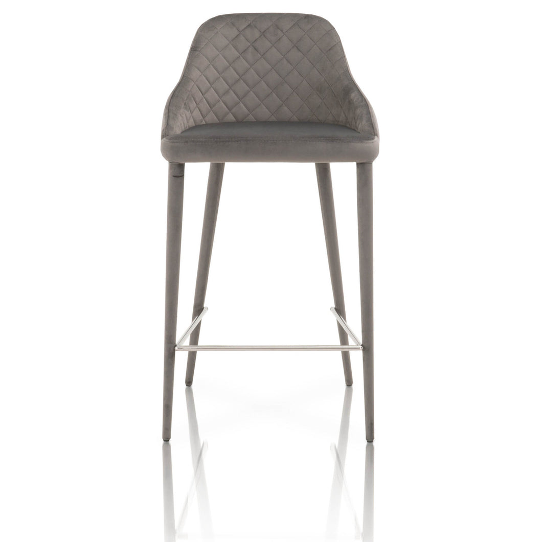 Star International Furniture Marquee 26 in. Counter Stool - Set of 2, Gray