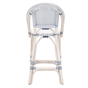 Orient Express Woven Paris Counter Stool in White Wash Rattan - Set of 2