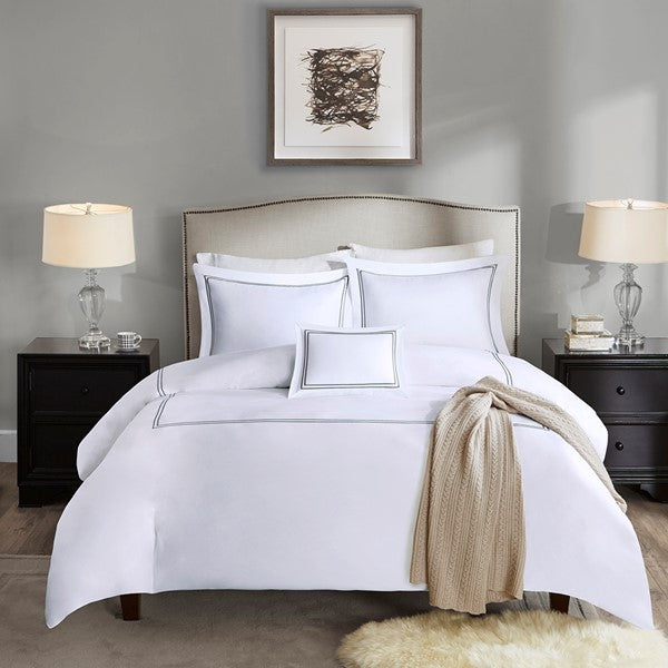 Luxury Collection 1000 Thread Count Embroidered Cotton Sateen 5 Piece Comforter Set