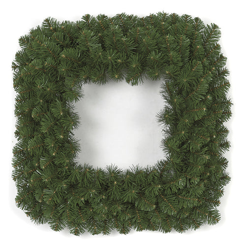 Faux Square Mixed Pine Wreath