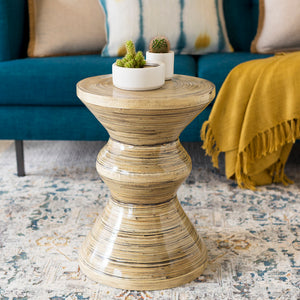 Surya Cane Garden Accent Table