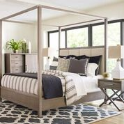 Rachael Ray Highline Complete Upholstered Canopy Bed