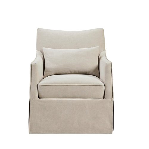 Martha Stewart London Skirted Swivel Chair - MT103-0008 Beige