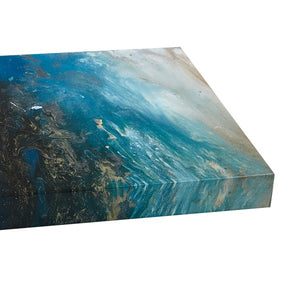 Rolling Waves Gel Coated Canvas-Set of Three