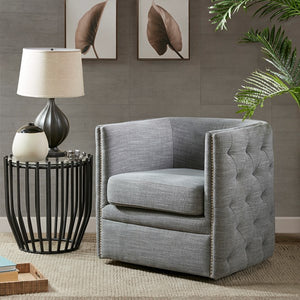 Madison Park Capstone Swivel Chair In Grey