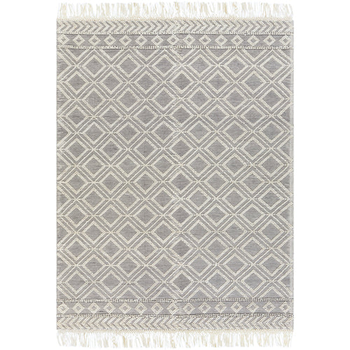 Surya Farmhouse Tassels Medium Gray Rectangular: 6 Ft. X 9 Ft. Rug
