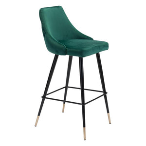 PICCOLO BAR CHAIR GREEN VELVET