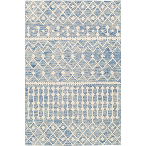 Surya Izmir IZM-2301 Rectangle Rug Denim, Ivory, 5' x 7'6
