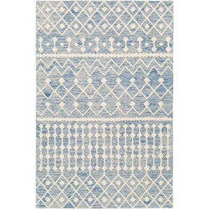 Surya Izmir IZM-2301 Rectangle Rug Denim, Ivory, 5' x 7'6""