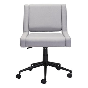 ZUO Brix Office Chair Light Gray