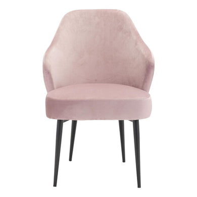 SAVON DINING CHAIR LIGHT PINK VELVET
