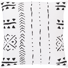 Surya Bohemian Pillow Cover + Down Insert Square 18