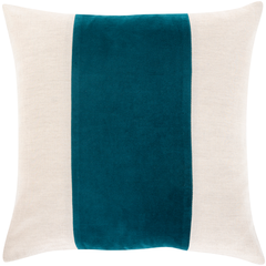 Teal Moza Pillow