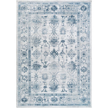 "Surya 3'9"" x 5'2"" Light Gray/Ivory/Navy Small Nova 