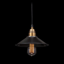 AMARILLITE CEILING LAMP BLACK & COPPER