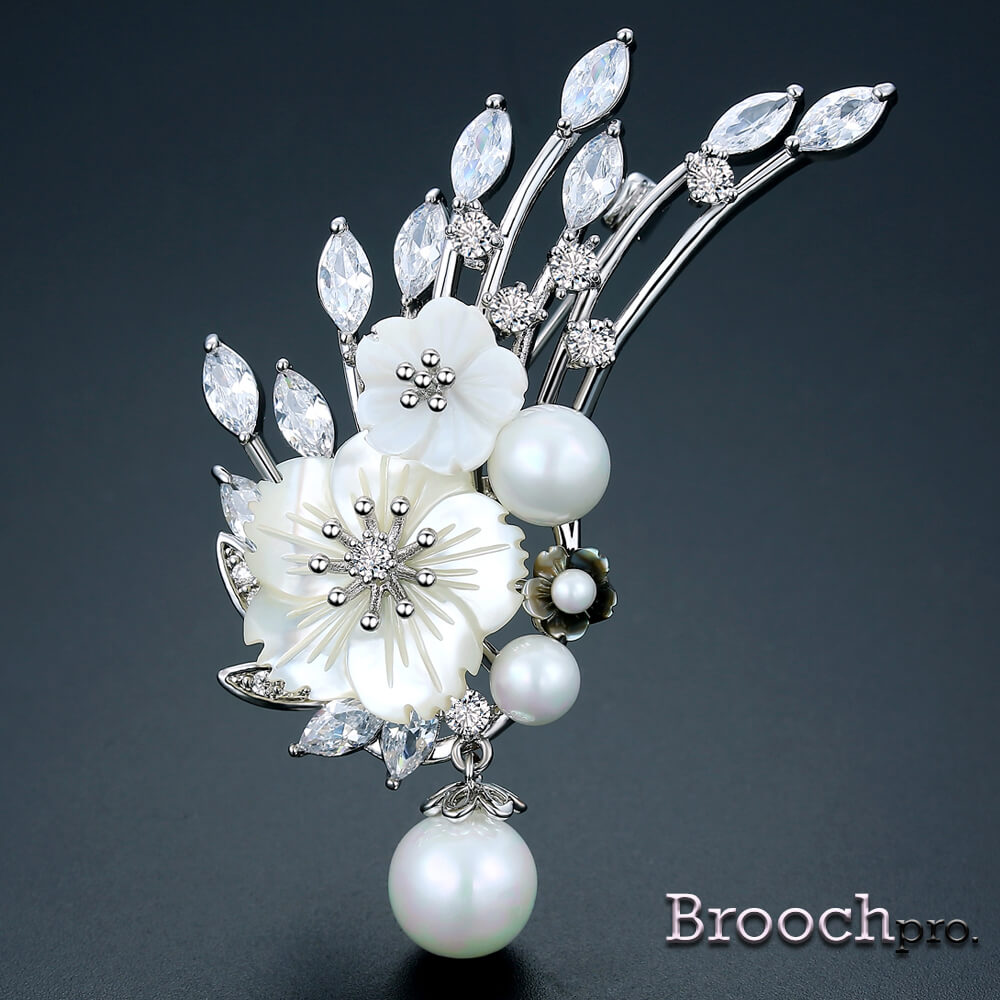 Brooch Bouquet Savory Pearl Flower – Brooch Pro