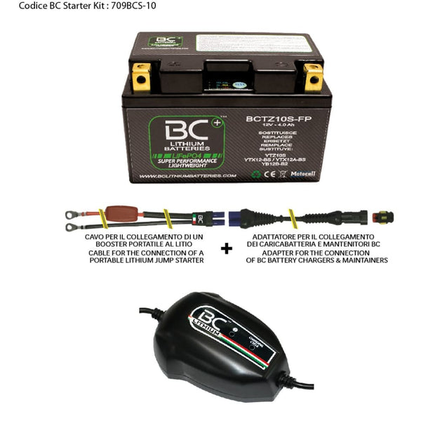 709BCS-10 BC Starter Kit (include batteria BCTZ10S-FP) - BC Battery Controller