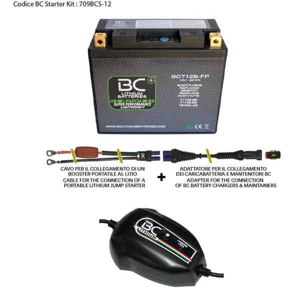 709BCS-12 BC Starter Kit (include batteria BCT12B-FP) - BC Battery Controller