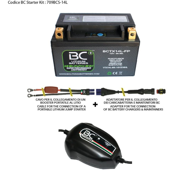 709BCS-14L BC Starter Kit (include batteria BCTX14L-FP) - BC Battery Controller
