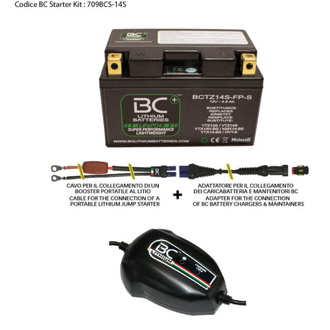 709BCS-14S BC Starter Kit (include batteria BCTZ14S-FP-S) - BC Battery Italian Official Website