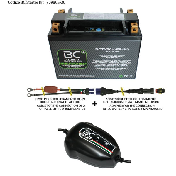 709BCS-20 BC Starter Kit (include batteria BCTX20H-FP-SQ) - BC Battery Controller