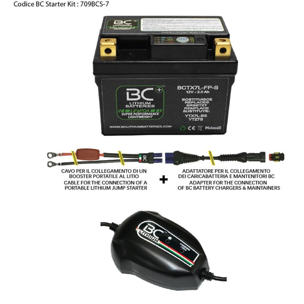 709BCS-7 BC Starter Kit (include batteria BCTX7L-FP-S) - BC Battery Controller