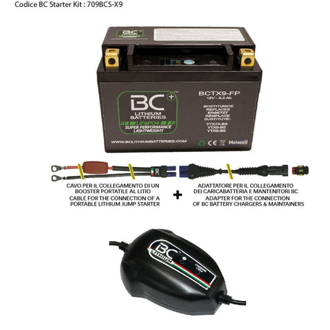 709BCS-X9 BC Starter Kit (include batteria BCTX9-FP) - BC Battery Italian Official Website