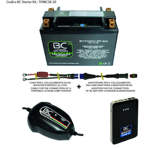 709BCSK-20 BC Starter Kit (include batteria BCTX20H-FP-SQ) - BC Battery Italian Official Website