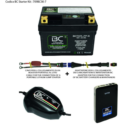 709BCSK-7 BC Starter Kit (include batteria BCTX7L-FP-S) - BC Battery Italian Official Website
