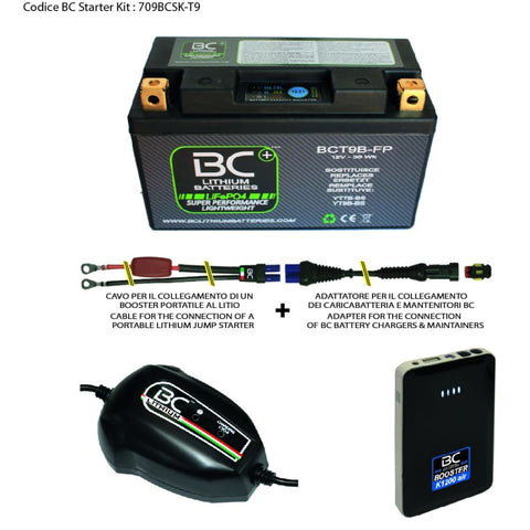 709BCSK-T9 BC Starter Kit (include batteria BCT9B-FP) - BC Battery Italian Official Website