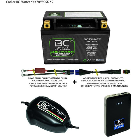709BCSK-X9 BC Starter Kit (include batteria BCTX9-FP) - BC Battery Italian Official Website