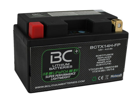 BCTX14H-FP |  BATTERIA MOTO LITIO LIFEPO4, 12V - BC Battery Italian Official Website