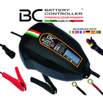 BC BRAVO 2000+ CARBON, 2 Amp, Caricabatteria e Mantenitore Digitale/LCD, Tester di Batteria e Alternatore per tutte le Batterie Auto e Moto 12V Piombo-Acido - BC Battery Italian Official Website