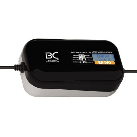 BC BRAVO 2000 DESIGN , 2 Amp, Caricabatteria e Mantenitore Digitale/LCD, Tester di Batteria e Alternatore per tutte le Batterie Auto e Moto 12V Piombo-Acido - BC Battery Italian Official Website