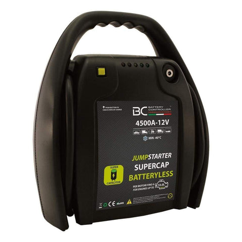 BC JUMPSTARTER BATTERYLESS 4500A-12V, Booster Professionale per Veicoli Benzina, Diesel, Ibrido fino a 10000CC - BC Battery Italian Official Website
