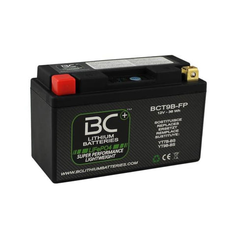 BC Lithium Batteries BCT9B-FP Batteria Moto Litio LiFePO4, 0,7 kg, 12V, YT7B-BS / YT9B-BS - BC Battery Italian Official Website