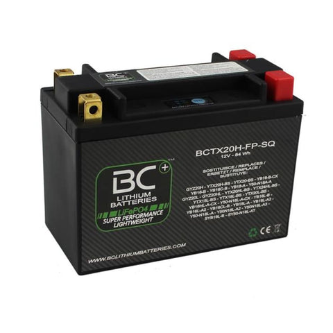 BC Lithium Batteries BCTX20H-FP-SQ Batteria Moto Litio LiFePO4, 1,4 kg, 12V - BC Battery Italian Official Website