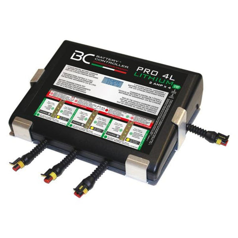 BC PRO 4L - Caricabatteria Professionale per Batterie Litio a 4 Uscite 2A - BC Battery Italian Official Website