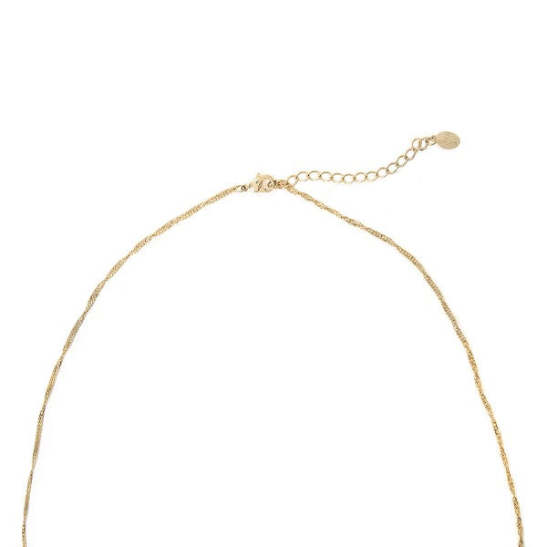 Sparkling Heart Necklace- Gold