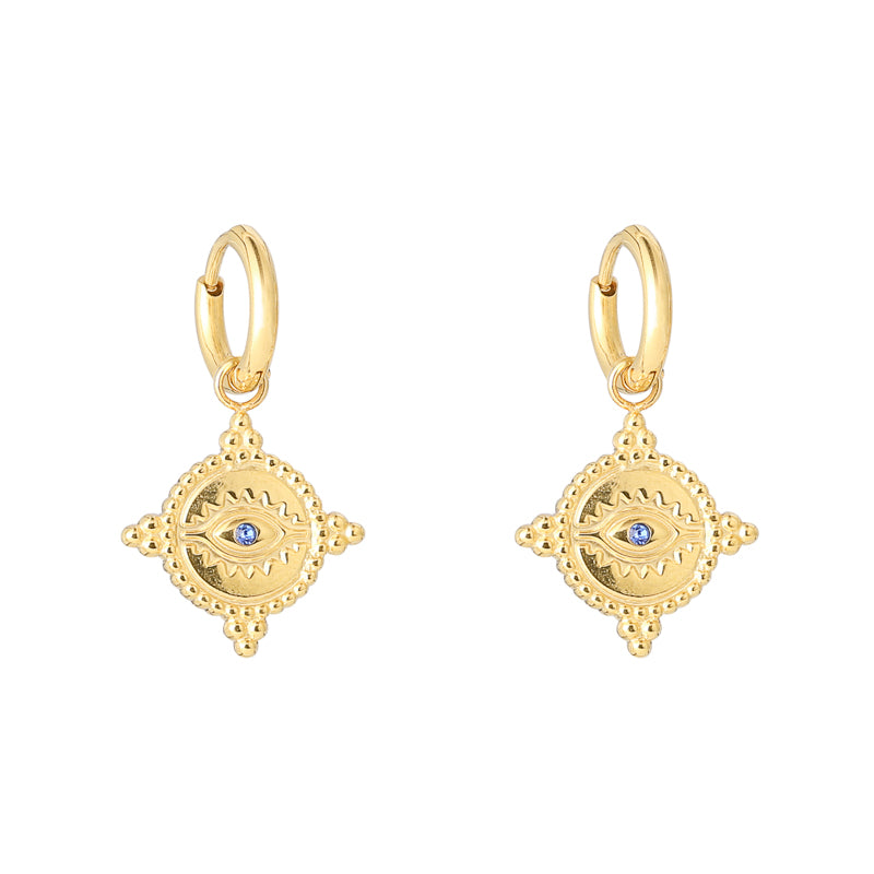 Gold Eye Catcher Earrings