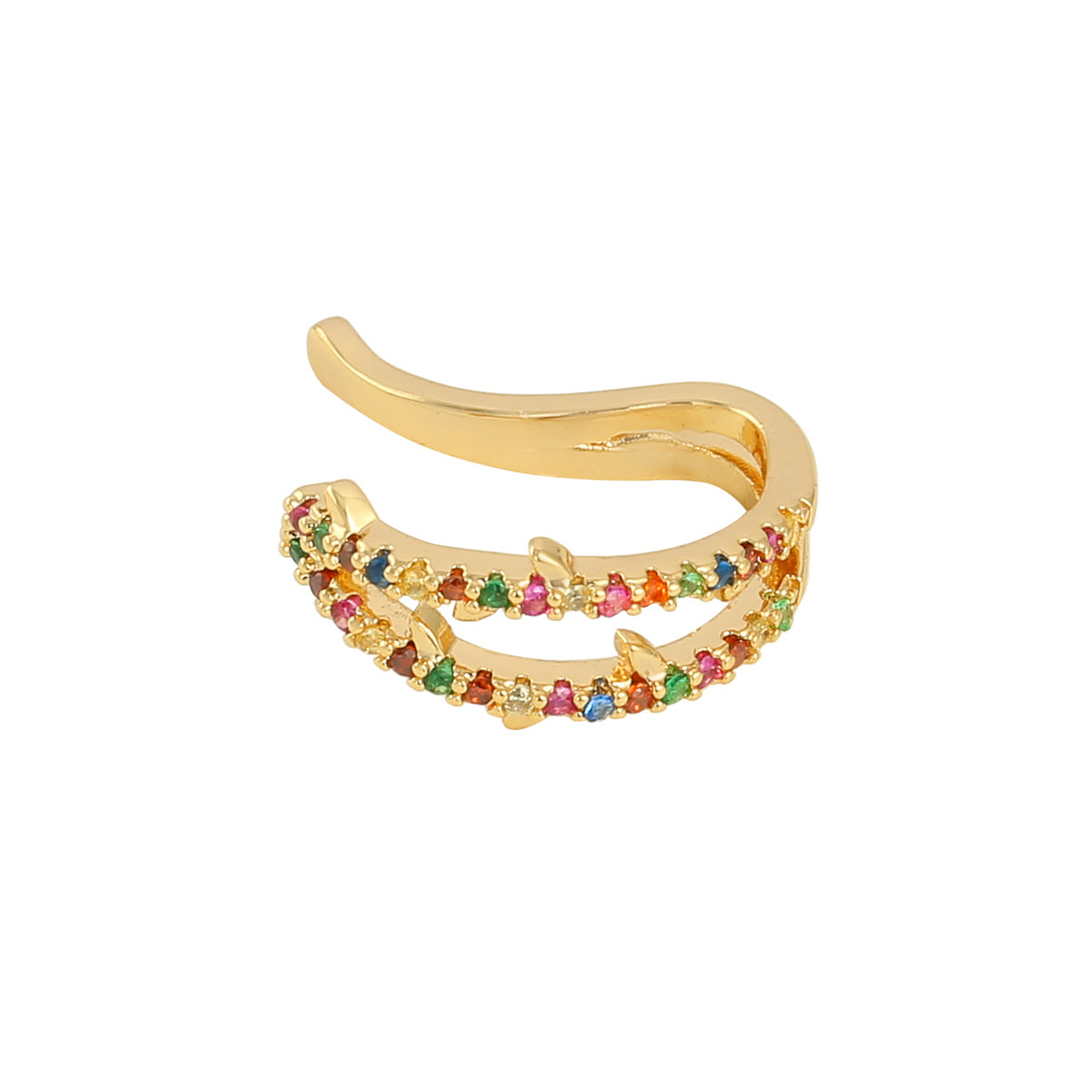 Gold Double Rainbow Earcuff
